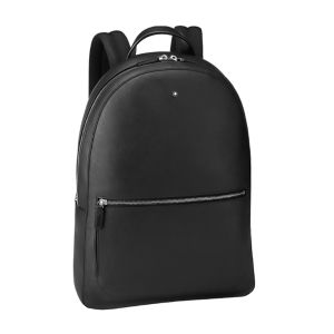Montblanc Meisterstuck Soft Grain Slim Backpack Black Leather 126235 Man Woman Business Mont blanc Luxury travel accessiores Italy manifacture