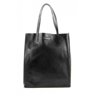 The Bridge Woman Shopper Bag Mirra Black Soft leather 04330101-30