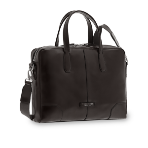 The Bridge VESPUCCI Briefcase Black Leather Document Bag 06362001 Business classic