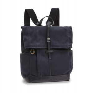 The Bridge Leonardo Backpack in Fabric and Blue Leather 0638110M-8P man woman autumn winter collection 2021