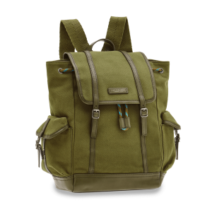 The Bridge Leonardo Backpack Fabric and Green Leather 0638210M-8O man woman icon collection autumn winter 2021