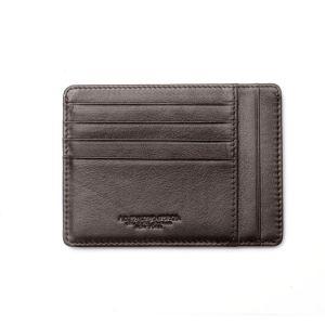 Spalding NEW YORK Portacarte Credito tascabile Large Pelle Marrone Protezione RFID
