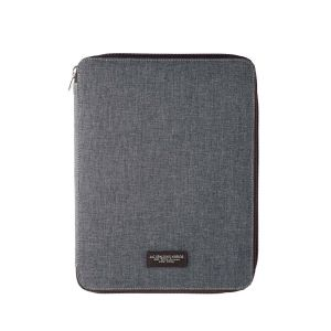 Spalding Flanel Notepad Nylon A4 size Gray Business Office man woman business work office gift elegance