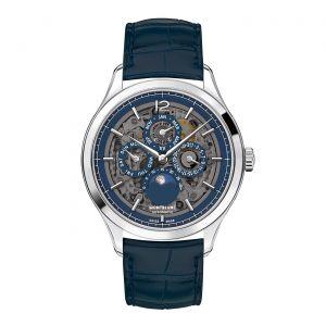 Watch Montblanc Heritage Perpetual Calendar Sapphire 40mm Skeletonized Dial Mont Blanc Luxury