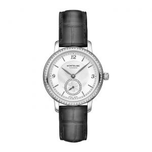 Montblanc Watch Star Legacy Small Second 32mm Diamond 118534 Silver Dial Bezel  precious steel studded with 68 Top Wesselton diamonds