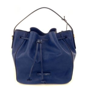 The Bridge MADDALENA Woman Bucket Bag Blue Leather Shoulder 04163101
