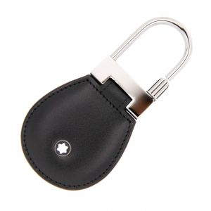 Montblanc Meisterstuck Key Fob Leather Round Black Icon 14085