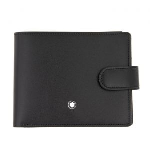 Montblanc Meisterstück Wallet 4 cc with View Pocket and Clasp Loc