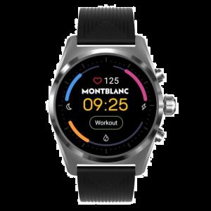 Montblanc Smartwatch Summit Lite Cassa Grigio Alluminio Cinturino Caucciu 128410 43mm uomo business elegante funzionale