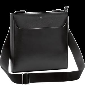 Montblanc Sartorial Envelope Bag Small Shoulder Strap Black Leather 128566 man woman Luxury accessories practicality travel organization