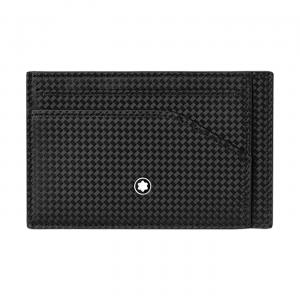 Montblanc Extreme 2.0 Pocket Holder 5cc with Zip Pocket 123955 New Collection 2019 Man Woman Black White Carbon Montblanc Shield technology, RFID blocking lining  carbon-fiber print motif