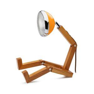 Mr Wattson LED wooden lamp McLaren Orange adaptable plug Office Desk Home Design man woman gift Piffany