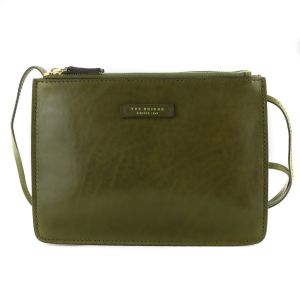 The Bridge Woman Urban Shoulder Bag in Green Leather 04352101-ER autumn winter 2021 collection icon made in Italy