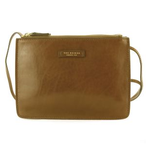 The Bridge Woman Urban Shoulder Bag Brown Cognac Leather 04352101-15 autumn winter 2021 collection icon made in Italy