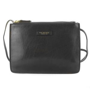 The Bridge Woman Urban Shoulder Bag Black Leather 04352101-30 autumn winter 2021 collection icon made in Italy