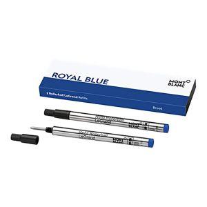 Montblanc box of 2 fineliner LeGrand refills broad Royal Blue 128251