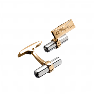 S.T. Dupont Cufflinks batton duo palladium and yellow gold