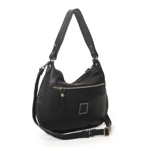 Campomaggi Caterina Lucchi Woman Eugenia Small Shoulder bag black leather with rivets C020131ND-X1731-C0001 autumn winter collection 2021 made in Italy