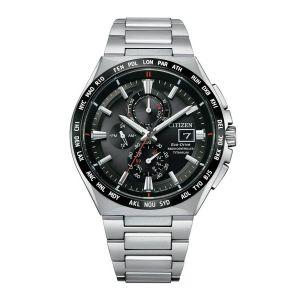 Citizen Man Watch H800 Titanium Ecodrive Black Dial AT8234-85E
