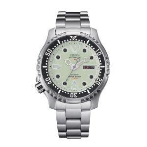 Citizen Orologio Promaster Diver Automatic 200 mt Quadrante Lime Bianco NY0040-50W uomo 42mm