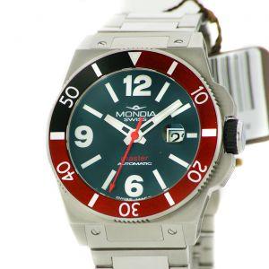 Mondia Swiss Watch Gent Master Automatic Date Black Dial 45mm MS200SS-01BK-BM