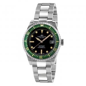 Watch Mondia Swiss Icon Automatic Diver MS-221-SSGR-BK-OY Green bezel 40mm