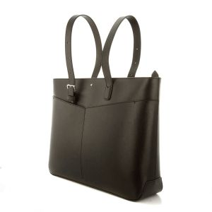Montblanc Sartorial Horizontal Tote Bag Black Leather 128555 Shopper woman Luxury Icon Elegance