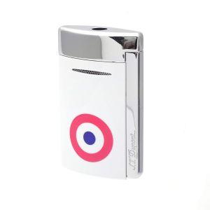 S.T. Dupont New Design Lighter MiniJet White Rosette Torch Flame 010802 art fire cigar universe