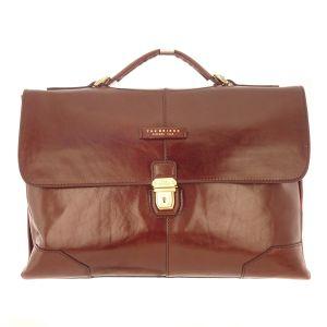 THE BRIDGE Business Bag Document Brown Leather Briefbag 06360001-14 man woman icon italy luxury Italian Florentine craftsmanship