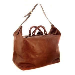 THE BRIDGE Travel Bag STORY Duffle Bag Brown Leather 07522001-14 man woman icon  Italian Florentine craftsmanship
