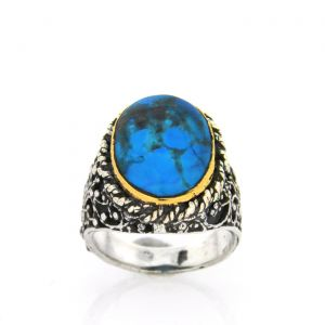 Progetto Fede Silver Ring Eye Turquoise collection
