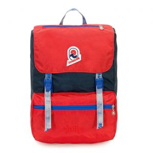 Backpack Invicta Vintage Jolly III Icon Small Blue Red Washed Fabric 2060019654 Icon Italy Style Design School Montain effect stone washed