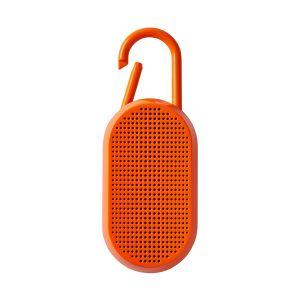 Lexon Design MINO T Orange Fluo Bluetooth speaker integrated carabiner Travel 1