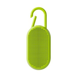 Lexon Design MINO T Yellow Fluo Bluetooth speaker integrated carabiner Travel 1