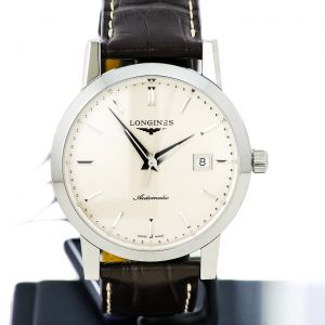 Longines The Longines 1832 Automatic Beige Dial 40mm L4.825.4.92.2  tribute year of the Brand foundation Brown Alligator Leather Bracialet