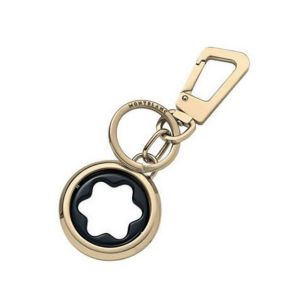Montblanc Key ring with rotating emblem in light gold