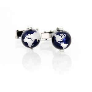 Montblanc Cufflinks Heritage Spirit Globe Blue Aluminum precious steel 112998 man icon luxury