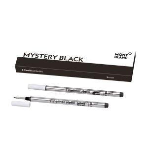 Montblanc Confezione di 2 ricariche per fineliner broad Mistery black 128247