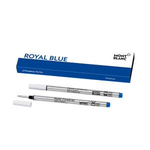 Montblanc box of 2 fineliner refills medium Royal Blue 128248