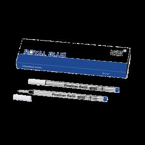 Montblanc box of 2 fineliner refills broad Royal Blue 128249