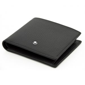 Montblanc Meisterstuck Soft Grain Wallet Black 6cc With Money Clip 126252 Man Woman Luxury Icon Mont Blanc Leathe Italy