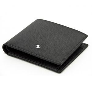 Montblanc Meisterstück Soft Grain wallet 6cc Black Leather 126250 man icon luxury