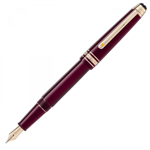 Montblanc Petit Prince & Planet Classique Burgundy Fountain Pen M 125308 Man Woman Luxury Icon Writing instruments Mont Blanc New Collection 2020 Gold-tone champagne-colored