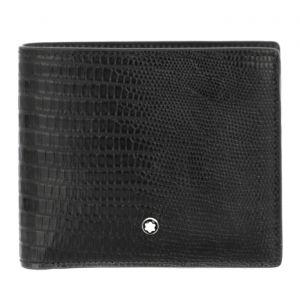 Montblanc Meisterstück Selection Lizard Wallet 8cc wallet black