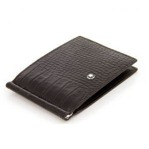 Montblanc Meisterstuck Selection Brown Wallet 6cc with Clip 112561 Printed Leather