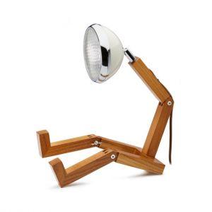 Mr Wattson LED wooden lamp Vintage White adaptable plug Office Desk Home Design piffany man woman gift