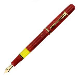 Pelikan M101N Penna Stilografica Bright Red finiture Oro 24k Special Edition collezionismo  strumenti scrittura