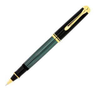 Pelikan Souveràn Penna Roller Verde Nera R600 rifinitura Oro uomo donna d' affari business regalo lusso dottore avvocato