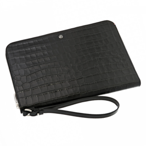 S.T. Dupont D Line Document Clutch Dandy leather with Print Croco crocodile Black 181061 Portfolio Man Woman Luxury icon Made in france Paris Elegance Cool