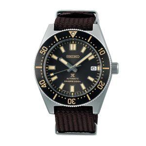 Seiko Prospex Watch SPB239J1 reinterpretation 1965 Automatic Diver 200M Brown Nylon strap